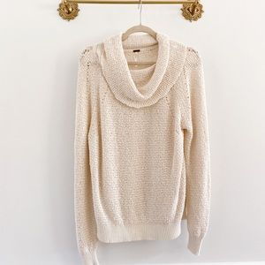Free People By Your Side Cowl Knit Sweater